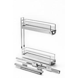 Карго CLASSIC 150 мм 2 рівнева 90 з доводжувачем сталь хром