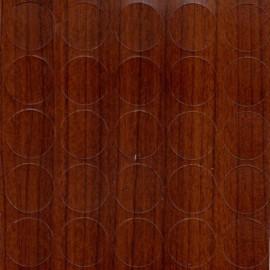 Заглушка самоклеюча на конфірмат Горіх Караваго 14мм